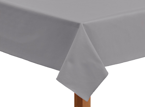 Leatherette square grey tablecloth