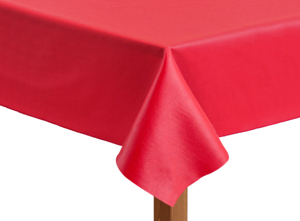 Leatherette square Red Tablecloth