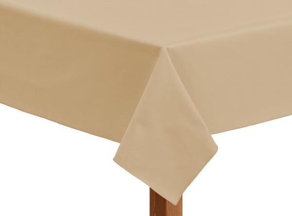 Leatherette square sandalwood tablecloth