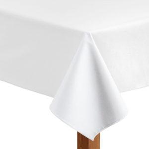 Leatherette square white tablecloth