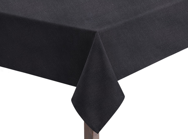 Linen Union Black tablecloth
