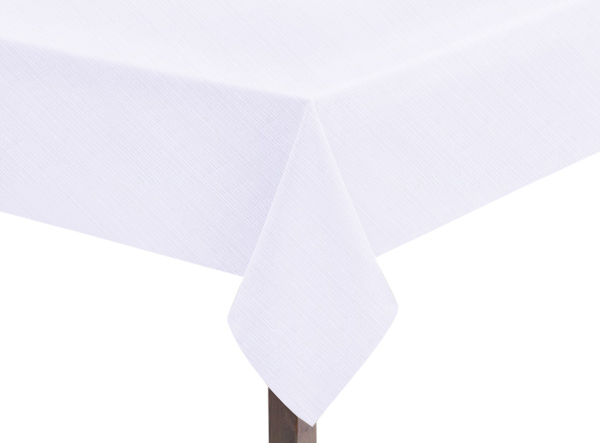 White Linen Union Tablecloth