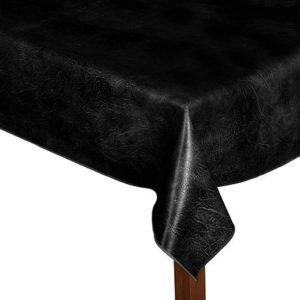 Luxury Leatherette black square tablecloth