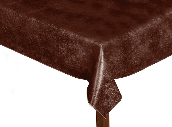 Luxury Leatherette Chestnut square tablecloth