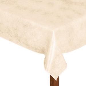 Luxury Leatherette square cream tablecloth