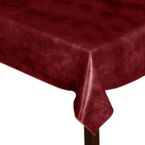 Luxury Leatherette square Flame Red Tablecloth