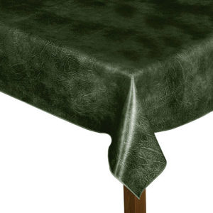 Luxury Leatherette square green tablecloth