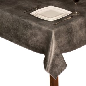 Luxury Leatherette square Grey tablecloth