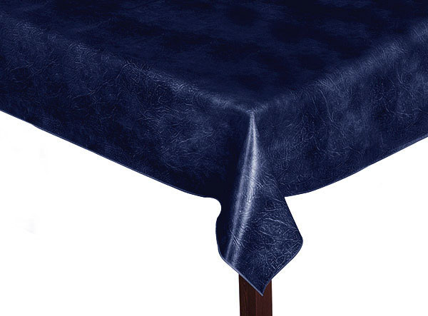 Luxury Leatherette square Navy Blue Tablecloth