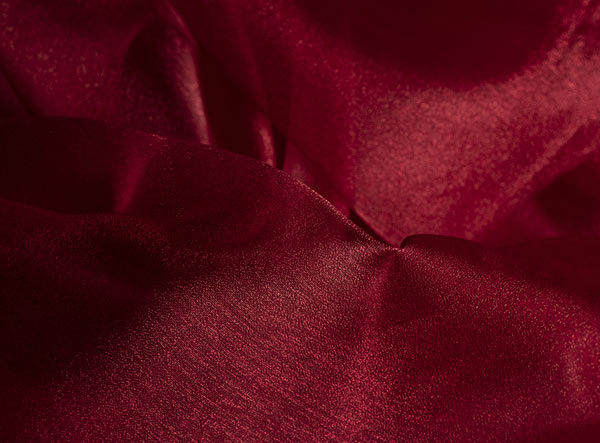 Crystal Organza square burgundy tablecloth