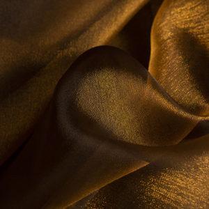 Crystal Organza Square Dark Gold Tablecloth