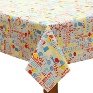 PVC Birthday Tablecloth