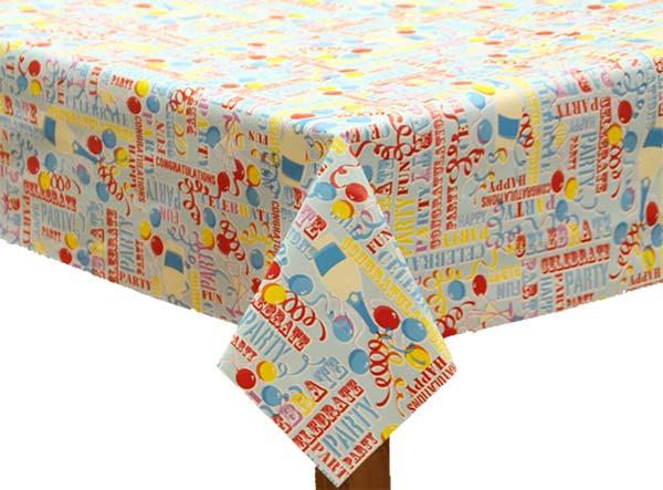 PVC Birthday Tablecloth