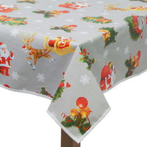 PVC Santa Tablecloth