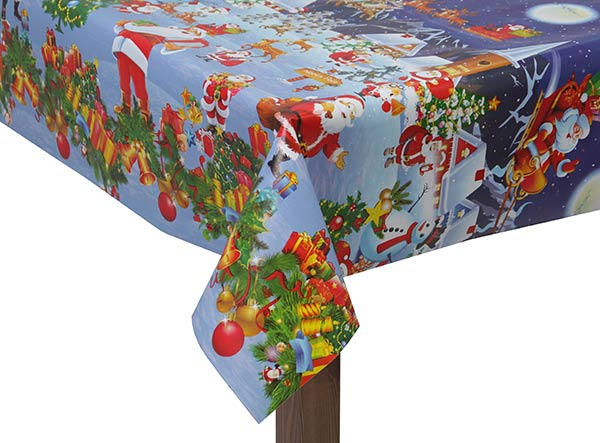 PVC Winter Wonderland Tablecloth