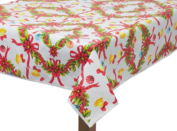 PVC Christmas Wreath Tablecloth