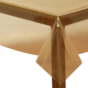 PVC clear glitter tablecloth
