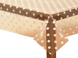 PVC Clear White Spots Tablecloth