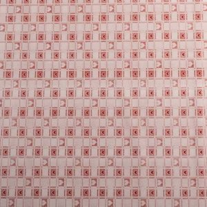 PVC Gingham Red Heart Check Tablecloth