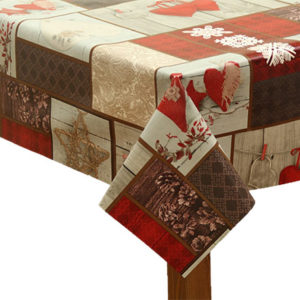 PVC Hearts Festive Tablecloth