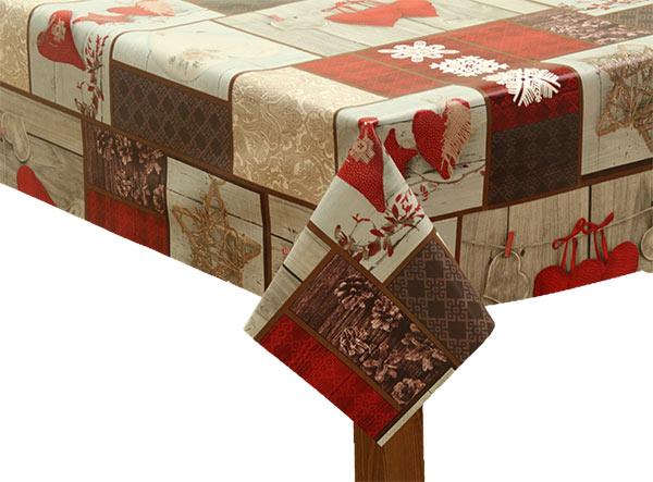 PVC Hearts Festive Tablecloth