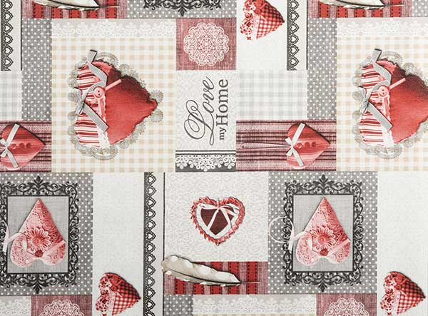 PVC Love My Home Tablecloth