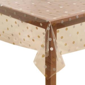 PVC Clear mixed dots Tablecloth