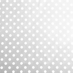 PVC Polka Dot Grey Tablecloth