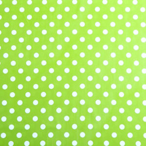 PVC Polka Dot Apple Green Tablecloth