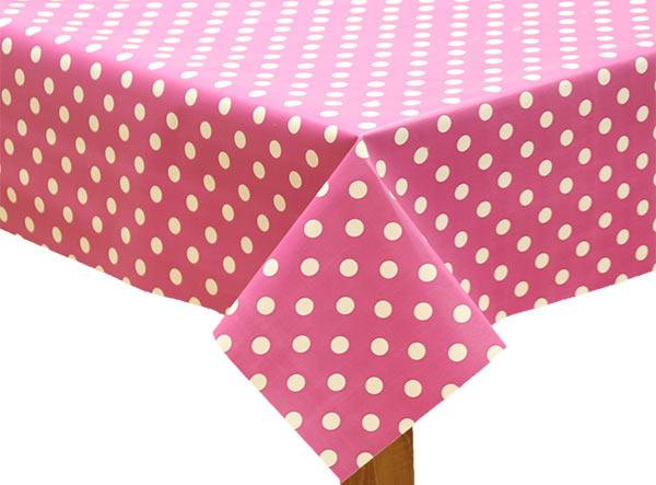 Polka Dot Raspberry Tablecloth
