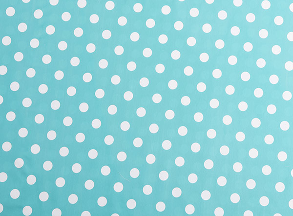 PVC Polka Dot Turquoise Tablecloth