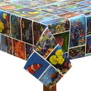 PVC Sea-Life Tablecloth