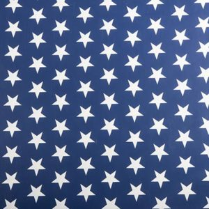 PVC Navy Blue Stars Tablecloth