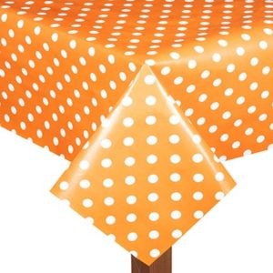 PVC Polka Dot Orange Tablecloth