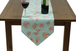Pink Flowers Pointed Runner