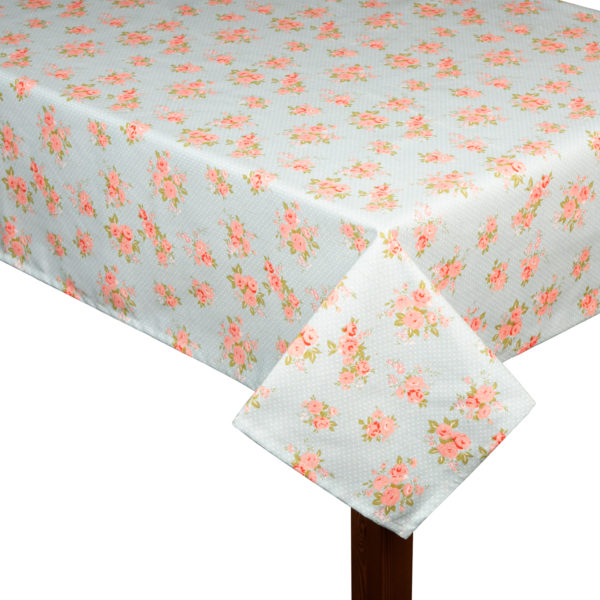 Pink flowers square tablecloth