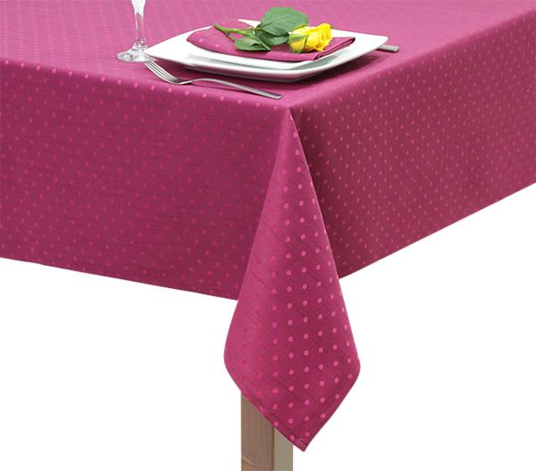 Fuchsia Polka Dot Square Tablecloth