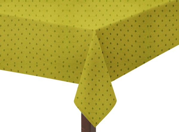 Olive Polka Dot Square Tablecloth