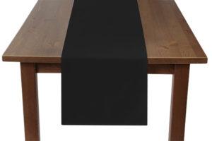 Black Table Runner