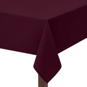 maroon polycotton square tablecloth