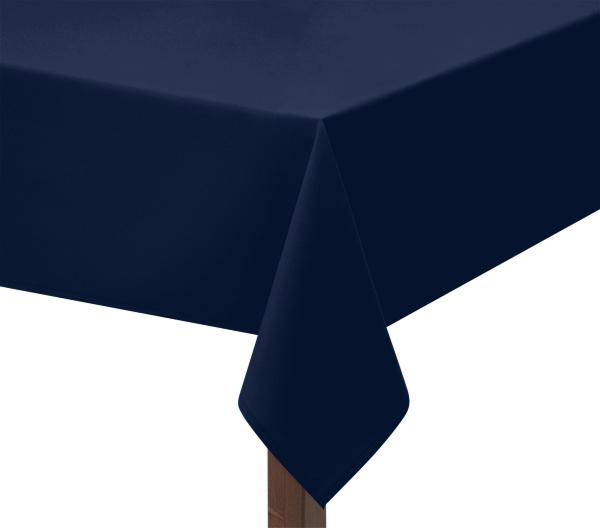 Navy Blue Polycotton Square Tablecloth