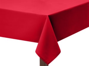 Red Polycotton Square Tablecloth