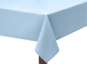 Sky Blue Polycotton Square Tablecloth