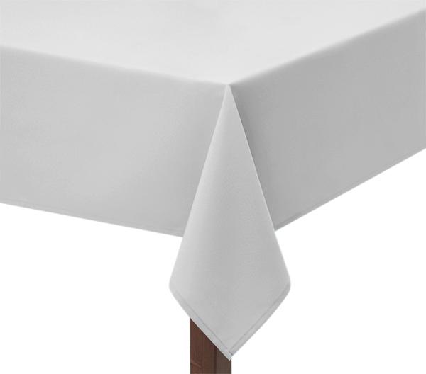 White Polycotton Square Tablecloth