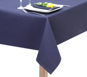 fire Retardant Navy Blue Tablecloth