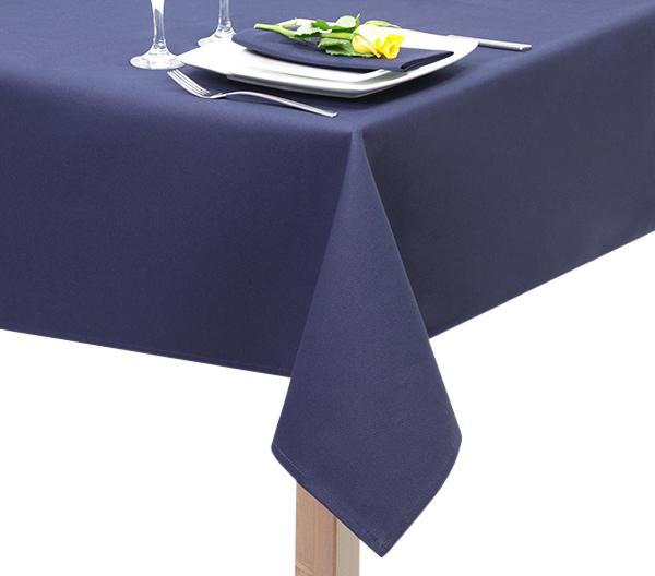 fire Retardant Navy Blue Tablecloth