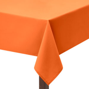 fire retardant Orange tablecloth