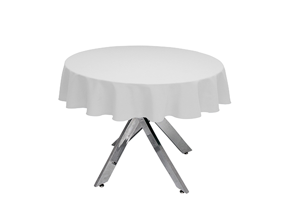 Heavy Cotton Round Tablecloth White, Round White Tablecloth