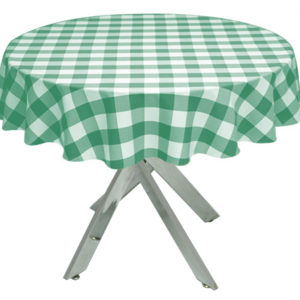 Green Gingham Large Tablecloth
