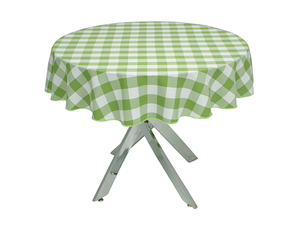 Lime Green Gingham Large Tablecloth